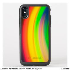 Shop Colorful Abstract Rainbow Photo Art OtterBox iPhone Case created by gnurf. Cell Phone Cases, Iphone Case Covers, Rainbow Photography, Art Case, Fort Collins, Abstract Photos, Photo Art, Apple Iphone, Create Your Own