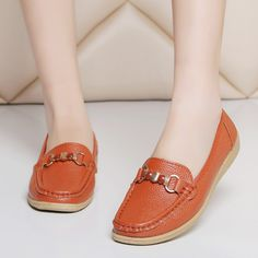 women flats shoes genuine leather ballet flats mother nurse shoes Slip-on dolly loafers Moccasins ballerina horsebit shoes