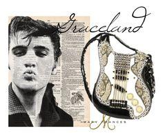 The Graceland guitar bag was inspired b Mr. Elvis Presley and his grand Graceland estate. #elvis #guitars #maryfrances