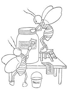 Honeybees printable from the Graphics Fairy blog site