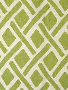 green and white fabric.