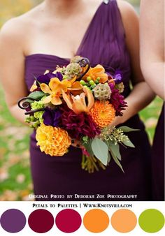 Fall Wedding Bouquets: 10 Colorful Bouquets for your Fall Wedding » KnotsVilla | LOVE this bouquet? The Rose Shop can make it happen! | Salt Lake City Utah Full Service Florist | Wedding Bouquets for Fall | Sandy | Riverton | SLC
