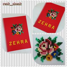 Rose flower decoration hama perler beads by renk__ahenk