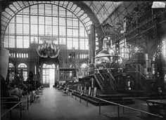"""The machinery hall of the All-Russian Art and Design Exhibition. Russia, 1896"""