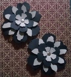 Leather barrettes made with Tattered Floral Die #theresabigshotforthat #uandsizzix @sizzix