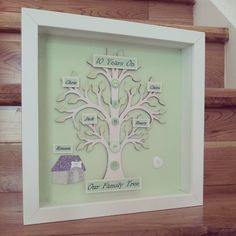 Gorgeous large wooden family trees for those with slightly bigger families – don't forget your pet! Black or white frame, can be personalised for free and lots of designs available – just message us what you would like! Please allow one week for final product to be complete although if you require something urgently please …
