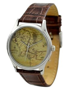 Middle Earth Map Watch | 29 Geeky Watches You Didn't Even Know You Needed
