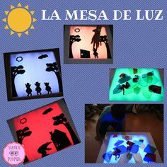 """Érase una vez sueños de papel"": junio 2015                              … Montessori Materials, Montessori Activities, Activities For Kids, Science For Kids, Shadow Theme, Diy For Kids, Crafts For Kids, Indoor String Lights, Reggio Emilia"