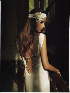 Charleston dress by The Couture Gallery designer Britta Kjerkegaard - Featured in Brides Magazine,  2010