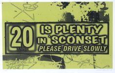Artist: Stephen Pitliuk  Title: 20 is Plenty in Sconset (yellow/black), Ed. 39 Media: giclee print  Size: 13 X 19 inches Estimate: $170-$200