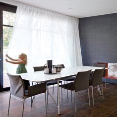 ** Check out Bifold door white curtains. Curtains For Bifold Doors, Patio Door Curtains, Curtains With Blinds, Patio Doors, White Curtains, Privacy Curtains, Net Curtains, Curtains Living, Kitchen Curtains
