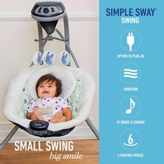 Graco Simple Sway Swing With Compact Frame Design - Prairie