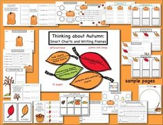 """Cultivate thinking and writing skills with this """"tree-mendous"""" collection of autumn-themed graphic organizers and writing frames. (Thinking Maps Style)"""