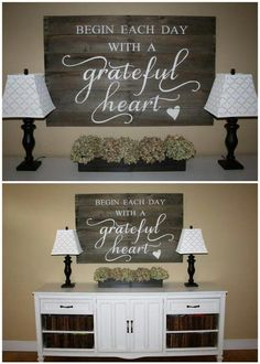 DIY Home Decor. Try These Useful Ideas For Home Improvement. The character of a person shows in their home. Attention to detail does not leave any room for error. Passion Deco, Diy Home Decor, Room Decor, Style Deco, My New Room, Wooden Signs, Rustic Signs, Painted Signs, Home Projects