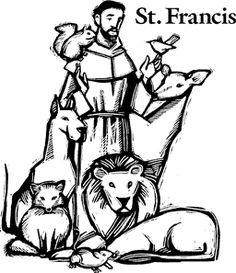 Coloring pages.Celebrate October the feast day of Saint Francis of Assisi with St. Francis of Assisi Coloring pages for Catholic Kids, and learn about St. Francis of Assisi. Catholic Crafts, Catholic Kids, Catholic Saints, Patron Saints, Colouring Pages, Coloring Books, Ste Claire, Patron Saint Of Cats, Saint Francis Prayer