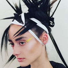 Paris Fashion Week Goes Punk: Behind the Painted Lids and Spiked Wigs at This Week's Shows