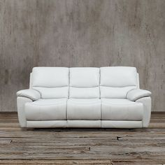 A Very Sturdy And Durable Sofa Is This White Leather Reclining Sofa. This  Is 100