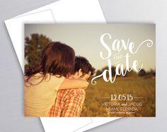 Photo enregistrer la Date, la carte, la Save imprimable, mariage, personnalisé, la Date, de l'Engagement, annonce moderne Save the Date, annonce de mariage