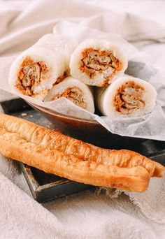 #Shanghai #Breakfast #Rice #Rolls (#Ci #Fan #粢饭), recipe by http://thewoksoflife.com