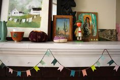 Mini bunting colors are lovely.