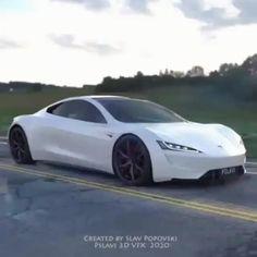 Tesla Electric Car, Electric Sports Car, Tesla Sports Car, Tesla Video, Sport Cars, Nice Sports Cars, Tesla Motors, Best Luxury Cars, Futuristic Cars