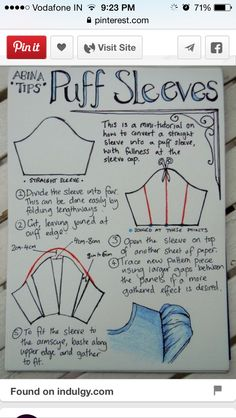 How to draft puff sleeves