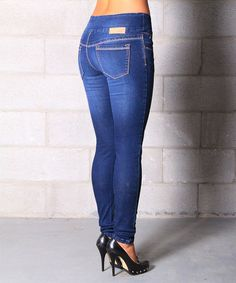 Take+a+look+at+the+Lola+Jeans+Medium+Wash+Pull-On+Skinny+Jeans+on+#zulily+today!