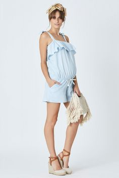 Alena Chambray Playsuit - Pea in a Pod