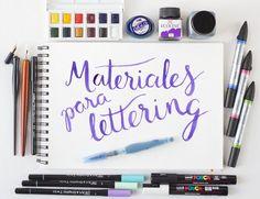 Primeros pasos en la Caligrafía y el Lettering: materiales Creative Lettering, Lettering Styles, Brush Lettering, Fancy Letters, Diy Letters, Calligraphy Letters, Typography Letters, Diy Agenda, Work Planner