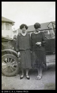 Women and car, Shanghai | Historical Photographs of China 1920-30  University of Bristol - Historical Photographs of China reference number: Pa02-076.  Photo from an album (UoB reference Pa02).