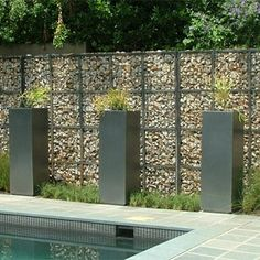 Gabions are another walling option that is growing in popularity. Again, not a cheap option but definitely one that adds curb appeal and can be incorporated into walling in so many ways.