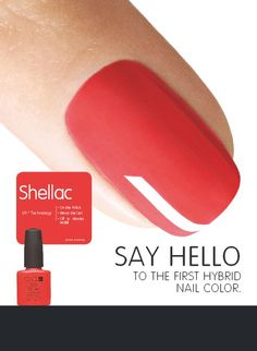 Shellac! The original power polish. Shellac applies like polish and removes in minutes with no filing, buffing or damage to your natural nails. It is UV cured, so there is zero dry time. Say good-bye to nicks, chips and smudges. @Evensong Spa at Heidel House Resort.