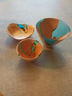 Juniper and colored resin