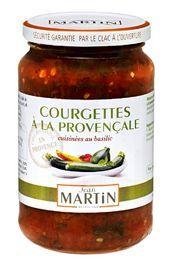 Provençaalse courgette en tomaten Deze courgettes zijn heel langzaam gekookt met tomaten en Provençaalse basilicum. Een zalige begeleider van vlees,gegrilde Courgettes (52%), tomaten (40%), zonnebloemolie, basilicum, extra vergine olijfolie, zout, suiker, knoflook. vis, gebakken eieren, rijst of pastagerechten.