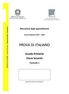 Prova Invalsi di italiano 2017-2018 di seconda classe Scuola Primaria Chart