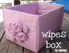 diaper box - A girl and a glue gun