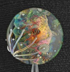 "Aquatic Fantasy 1.25"" Aquarium Bead with Clownfish and Jellyfish SilverSageCreations"