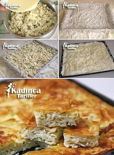 Pastry Recipe with Pastry, How to Make? - Womanly Recipes - Delicious, Practical and Delicious Food Recipes Site - Pastry Recipe with Pastry Flavor - Pastry Recipes, Gourmet Recipes, Burek Recipe, Indian Pancakes, Recipe Sites, Bread And Pastries, Iftar, Turkish Recipes, Snacks