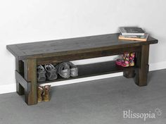 Rustic Entryway Bench - Boot Bench With Shoe Rack And Boot Storage - Cubby Bench - Entryway Shoe Organizer | Rustic entryway Entryway bench and Bench & Rustic Entryway Bench - Boot Bench With Shoe Rack And Boot Storage ...