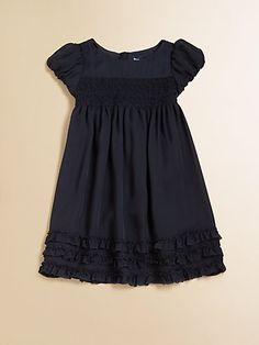 Ralph Lauren - Toddler's & Little Girl's Ruffled Silk Dress - Saks.com