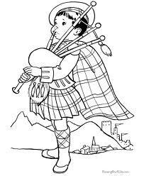 scottish coloring pages | Scottish Avitars & Icons