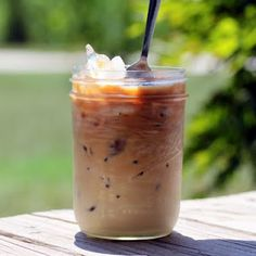DIY Iced Coffee - sounds amazing and does NOT use instant coffee granules! I am making this tonight so I can enjoy it tomorrow! :)