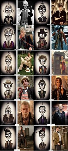 A Closer Look At Tim Burton Draws The Doctor