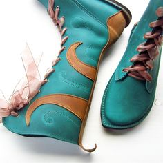 MOONSHINE Tide Fairytale Boots | Fairysteps OMG! What a fantastic line of footwear! Daring colors, whimsical details. FUN!