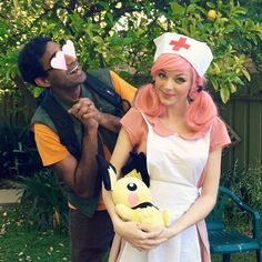 Brock and Nurse Joy by Shwintron