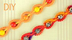 DIY - Sunny Macrame Bracelet for a Sunny Day - Easy Tutorial by Macrame School