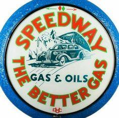 RARE Original Speedway Gas Globe