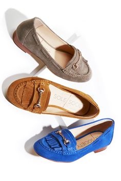 200d71d5fe37cd Suede loafers with polished hardware and fringe detailing