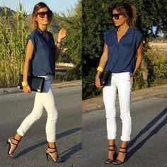 white jeans von verone