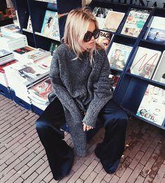 Claire Rose Cliteur in Samsøe & Samsøe AW16 Caro pants.